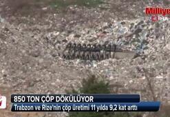 Trabzon ve Rizenin çöp üretimi 11 yılda 9,2 kat arttı