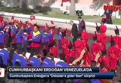 Resmi karşılama töreninde Katibim türküsü
