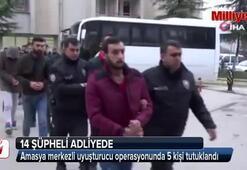 Amasya merkezli uyuşturucu operasyonunda 5 tutuklama