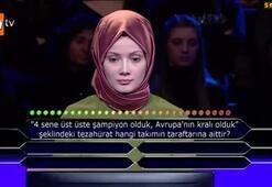 Kim Milyoner Olmak İsterde Galatasaray sorusu