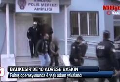 Fuhuş operasyonunda 4 yaşlı adam yakalandı
