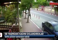 Sahte polisler kameralara takıldı