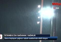 Taksim'de gece başlayan yağmur sabah saatlerinde etkili oluyor