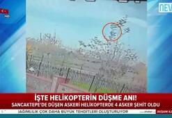 İşte İstanbulda askeri helikopterin düşme anı