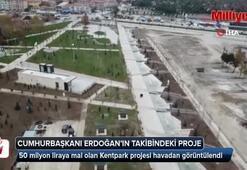 Cumhurbaşkanı Erdoğan'ın takibindeki proje havadan görüntülendi
