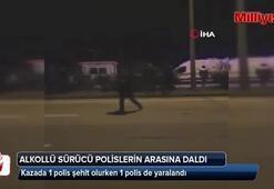 Giresun'da alkollü sürücü polislerin arasında daldı: 1 şehit 1 yaralı
