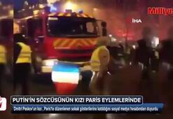 Putinin Sözcüsünün kızı Paris eylemlerinde