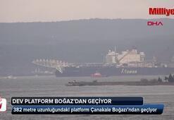 Dev platform Çanakkale Boğazında