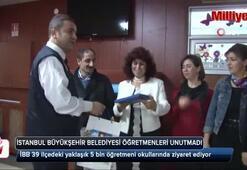 Büyükşehir Belediyesi ekipleri Öğretmenler Gününü unutmadı