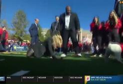 ABDli NFL muhabiri Laura Rutledgein zor anları
