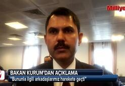 Bakan Kurum, Kaştaki yapılara ilişkin soruya cevap verdi