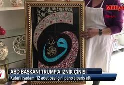ABD Başkanı Trumpa hediye, İznik çinisi