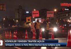 Unkapanı, Galata ve Haliç Metro köprüsü deniz trafiğine açıldı