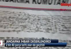 Gürcistana kaçırılmak istenen 2 bin 40 parça tarihi eser ele geçirildi