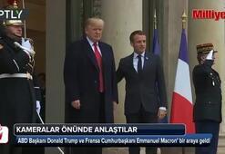 Macron-Trump zirvesi gergin başladı