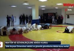 Güvenlikçilerin Aikido dersine rektör de katıldı