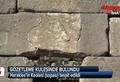 Askeri gözetleme kulesinde Herakles'in Keole kabartması bulundu
