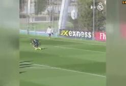 Real Madrid antrenmanında Ramos-Modric kapışması