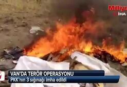 Van'da PKK'nın 3 sığınağı imha edildi
