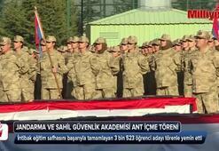 Jandarma ve Sahil Güvenlik Akademisi ant içme töreni