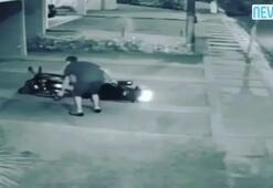 Sarhoş adamın motosikletle imtihanı