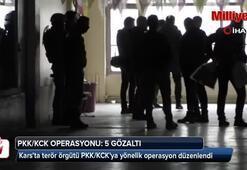 Karsta PKK/KCK operasyonu: 5 gözaltı