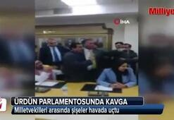 Ürdün Parlamentosunda kavga