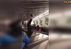 Romada yürüyen merdiven çöktü