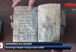 Jandarma İbranice el yazısı ile dini resim ve figürlerin yer aldığı kitap ele geçirdi