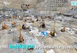 Yusufeli Barajının yapımı havadan görüntülendi