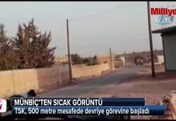TSKdan PYD'li teröristlerin hendek kazdığı bölgelerde devriye