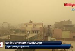 Suriye sınırında toz bulutu