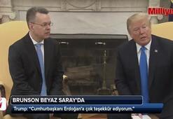 Trump, Brunsonla Beyaz Sarayda görüştü