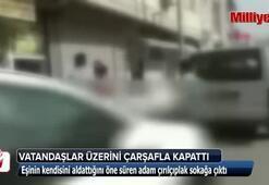 Aldatıldığını öğrenen adam çırılçıplak sokağa fırladı