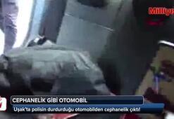 Son dakika: Polisin durdurduğu otomobilden cephanelik çıktı