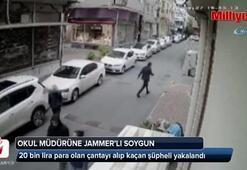 Okul müdürüne jammerlı soygun kamerada