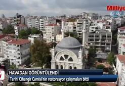 Tarihi Cihangir Camiinin restorasyon çalışmaları bitti