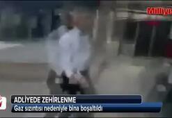 İzmirde adliye binası tahliye ediliyor