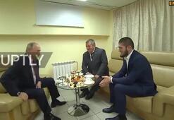 Vladimir Putin, Khabib Nurmagomedov ile bir araya geldi