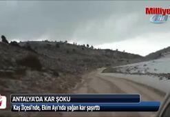 Antalyada kar şoku
