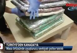 Masa örtüsünde uyuşturucu sevkiyatı polise takıldı