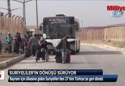 Bayram için ülkesine giden Suriyelilerin dönüşü sürüyor