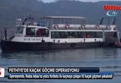 Fethiyede 93 kaçak göçmen yakalandı