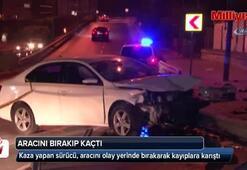 Beyoğlu'nda kaza yapan sürücü aracını bırakıp kaçtı