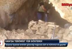 Vanda teröristin gösterdiği mağarada bakın neler çıktı