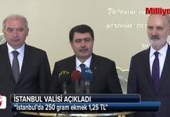 Vali Vasip Şahin: İstanbul'da 250 gram ekmek 1,25 TL