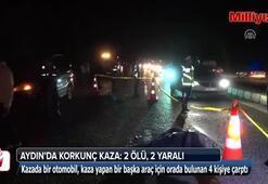 Kaza yapanların yardımına koşanlara otomobil çarptı