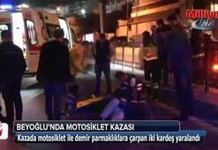 Beyoğlu'nda motosiklet kazası