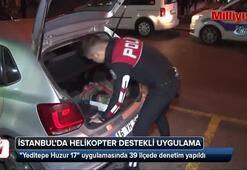 Helikopter destekli 'Yeditepe Huzur' uygulaması