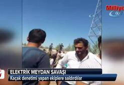 Kaçak denetimi yapan Dicle Elektrik ekibine saldırı